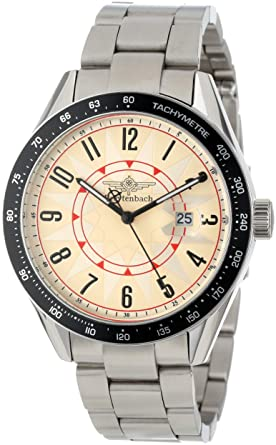 Breytenbach Unisex BB3810BE Classic Analog Black Bezel Watch at amazon