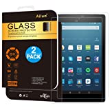 Ailun Screen Protector for Fire HD 8 [2Pack](2018 2017 2016 Release),2.5D Edge Tempered Glass,9H Hardness,Ultra Clear,Anti-Scratch,Case Friendly (Color: 2Pack-Tempered Glass for Amazon Fire HD 8(2017-Release))