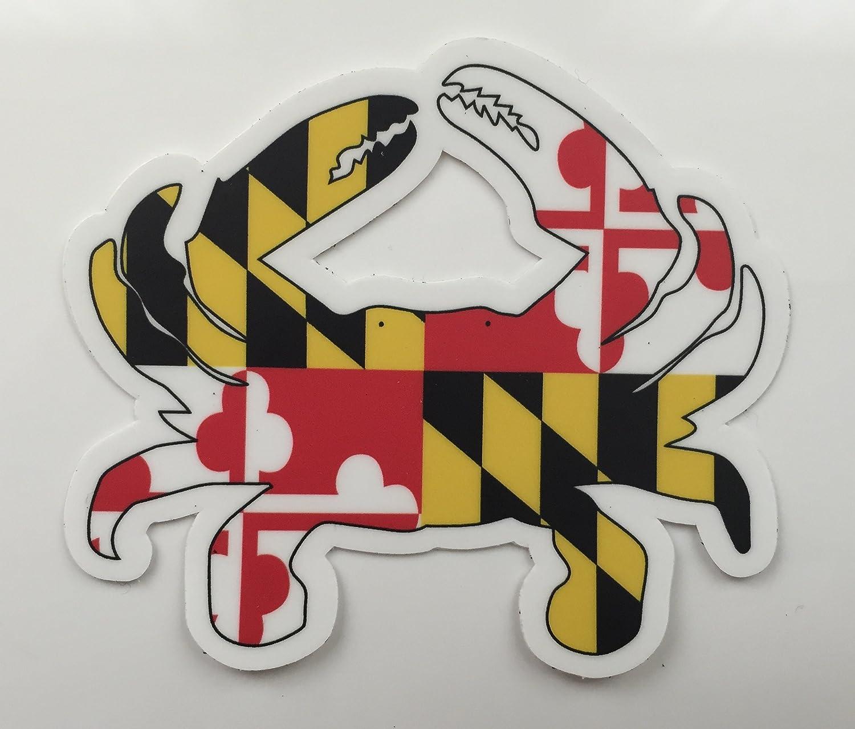 Maryland Flag Crab Decal Maryland Flag Blue Crab Car