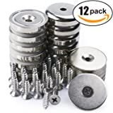 Neodymium Cup Magnets with 90 lbs Pull Capacity Each - Dia 1.26