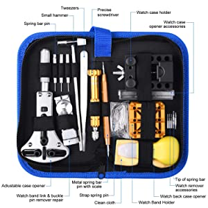 ETEPON 149pcs Watch Repair Kit Watchmaker's Tools Watch Case Back Opener Remove[Updated] ET015 (Tamaño: C)