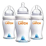 Munchkin Latch Anti-Colic Baby Bottle with Ultra Flexible Breast-like Nipple, BPA Free, 8 Ounce, 3 Pack (Color: White, Tamaño: 8 Ounce, 3 Pack)