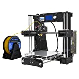 ALUNAR A6 DIY 3D Printer I3 Kit High Accuracy CNC Self-Assembly Desktop 3D Printing Machine Same ANET A6 (Color: Black Large Knob LCD)