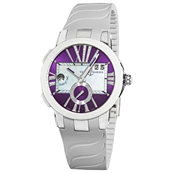 Ulysse Nardin Women's 243103/3007 Executive Dual Time Purple Diamond Dial Watch