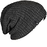 FORBUSITE Mens Slouchy Long Oversized Beanie Knit Cap For Summer Winter B08 (Dark Gray)