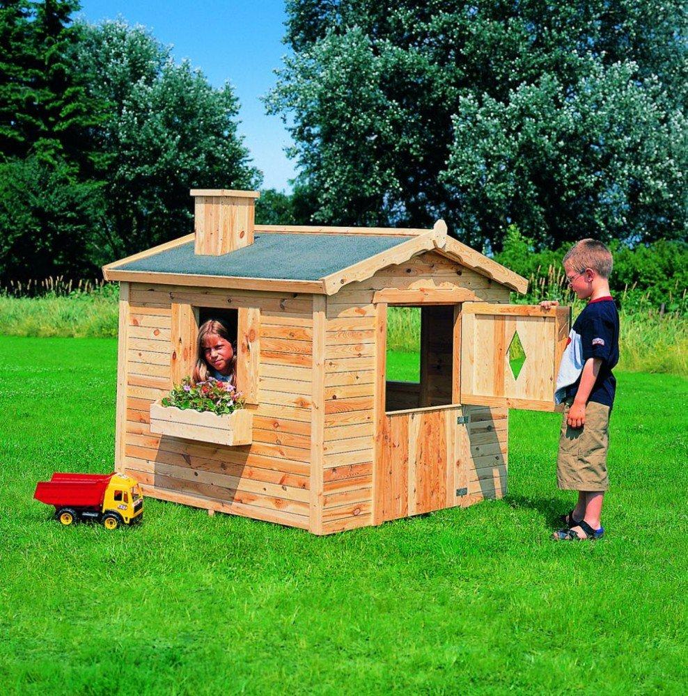 Spielhaus Villa Spatzennest Kinderhaus Gartenhaus Komplett-Bausatz jetzt bestellen