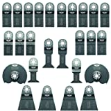 26 x TopsTools UNKA26A OMT Mix Blades for Bosch Fein MultiMaster (Non-StarLock) Makita Milwaukee Genesis Chicago Craftsmen Nextec Rockwell Ryobi Hitachi Multi Tool Accessories