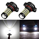 Alla Lighting 2000 Lumens High Power 2835 51-SMD Super Extremely Bright 6000K White 12276 2504 PSX24W LED Bulbs for Fog Light Lamps Replacement (Tamaño: 2504 / PSX24W)