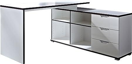 Germania 0488-84 escritorio 488, 145 x 75 x 145 cm, blanco
