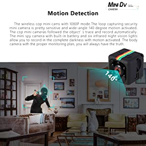 Mini Dv Camera 1080P Hidden Spy Wireless Cam for Nanny, Sports Home Office Security Camera Car Video Recorder with Night Vision