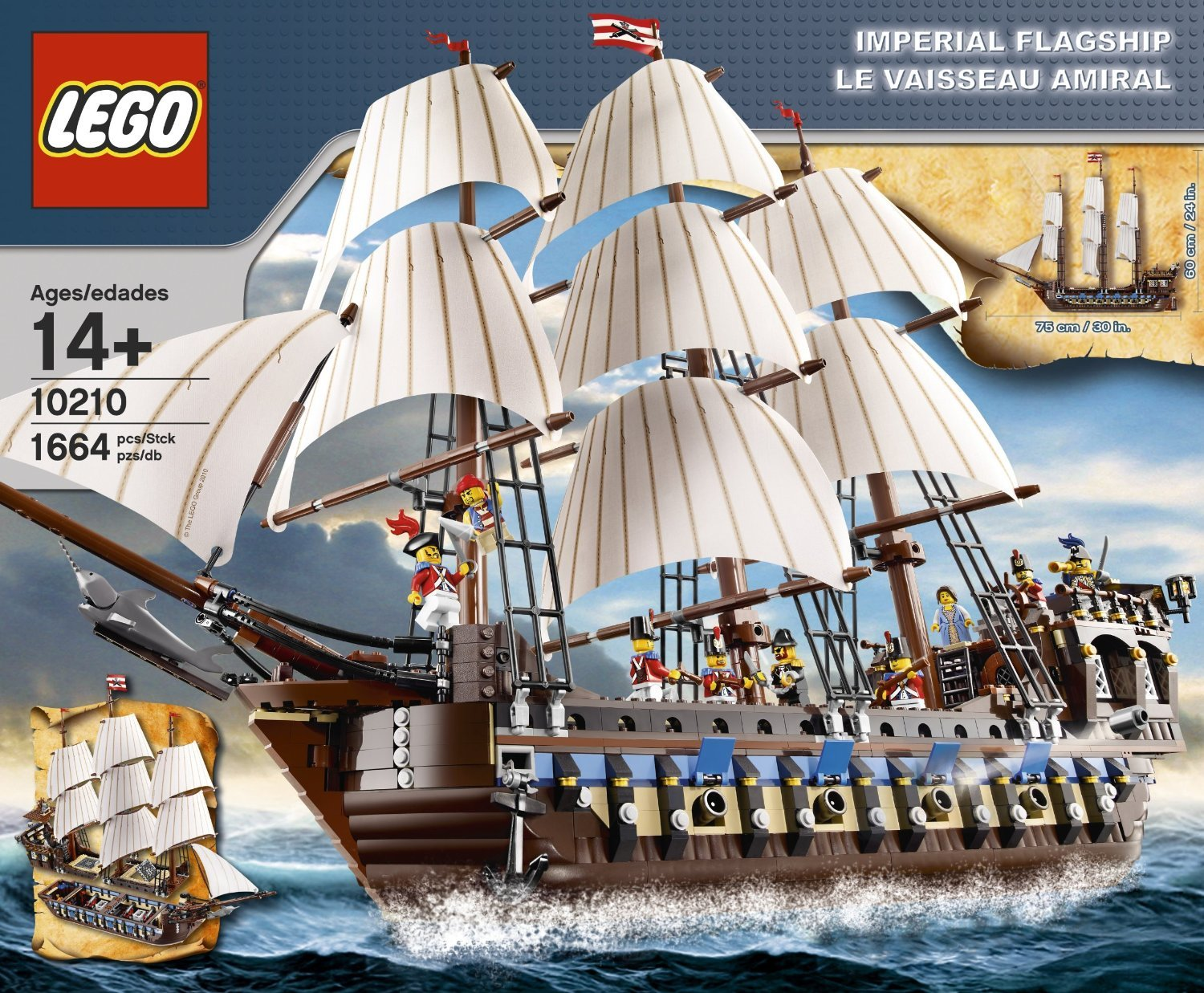 LEGO ( LEGO ) Pirates Imperial Flagship (10210) block toys ( parallel imports )