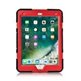 iPad Mini 4 Case, KIDSPR Kids Case Dirtproof Shockproof Cover Case With Kickstand and Extreme Heavy Duty Stand Super Protection for Apple iPad Mini 4 (iPad Mini 4, Black Red) (Color: Black Red, Tamaño: iPad Mini 4)