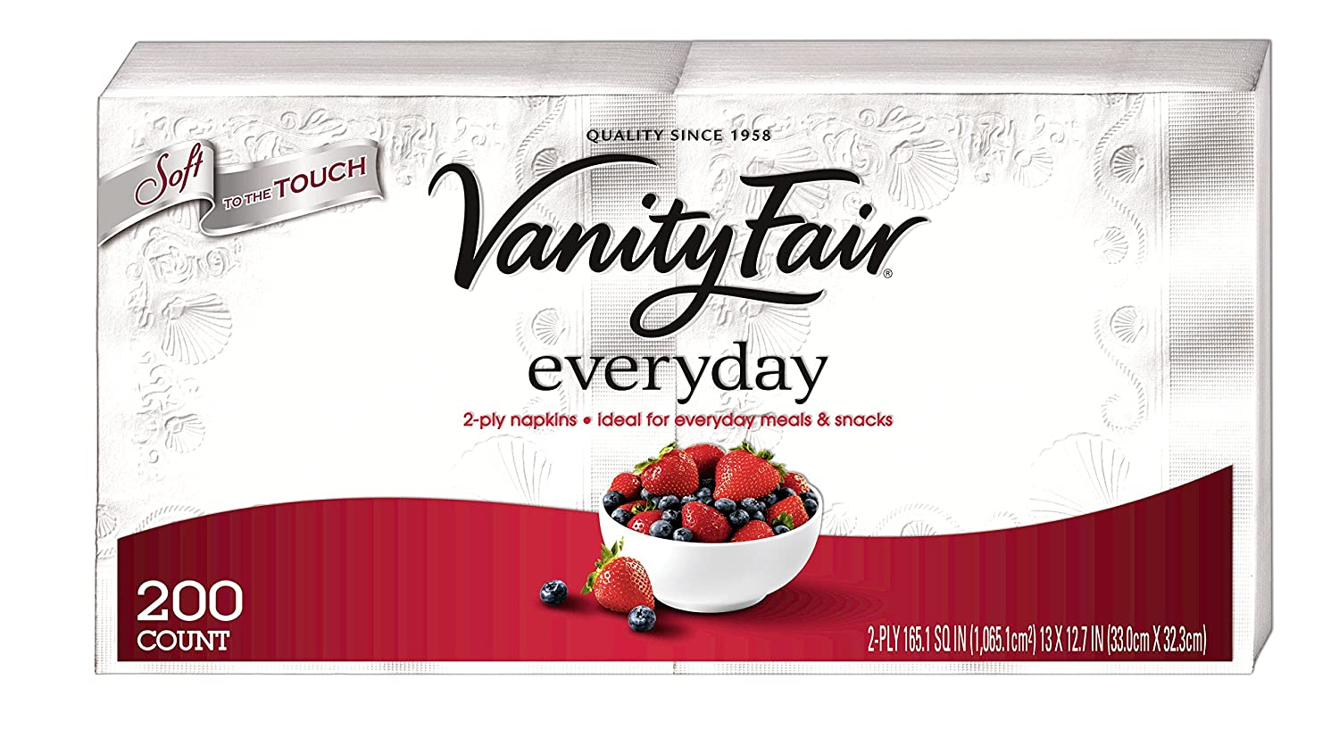 Vanity Fair Napkins Everyday, Family Pack, 400 ct (Pack of 2- 200 ct)