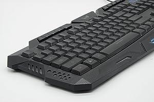 LeRich LED 3 Colors Backlit M-200 Multimedia Ergonomic Usb Gaming Keyboard