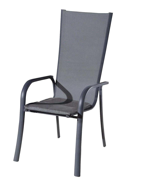 Luxus Sitzkissen Auflage Auflagen Gartenstuhl Sitzauflagen gartenmöbel 6cm mit wasser-, schmutz und fleckabweisender namenhafter Beschichtung Bezug (Schwarz) günstig online kaufen
