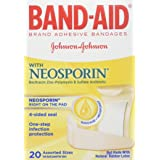 BAND-AID With Neosporin Bandages Assorted Sizes 20 Each (Pack of 2) (Tamaño: 20 Count (Pack of 2))