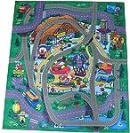 Silli Me Amusement Park Felt Play Mat with Train Track Design