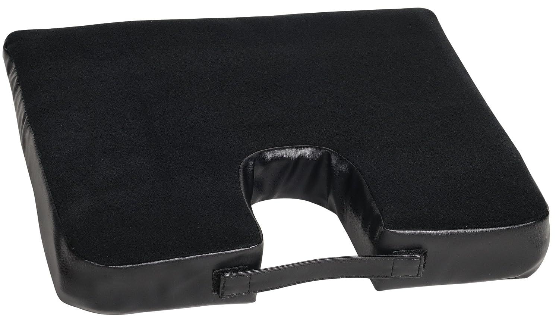 back relief seat cushion orthopedic wedge cutaway zipper soft foam coccyx lumbar ebay. Black Bedroom Furniture Sets. Home Design Ideas
