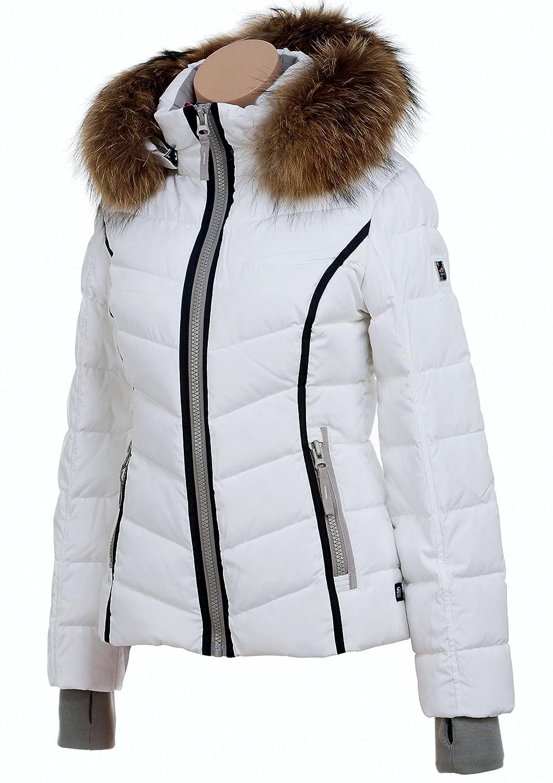 SNOWIMAGE M306 Damen Sportjacke Daunenjacke mit Fellkapuze Gr.34-42 Farbe: weiss