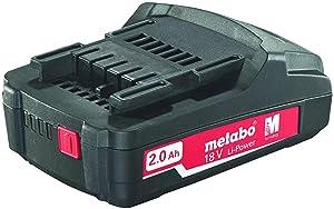 Metabo 625596000 Tool Battery Pack, 2.0 Ah/18V (Tamaño: 2.0 Ah/18V)