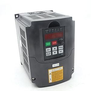 2.2KW Air Cooled Spindle Motor ER20 Kit + 2.2KW 220V Inverter VFD 3HP + 80mm Clamp Mount + 14pcs ER20 Spring Collet for CNC Router Engraving Milling Machine