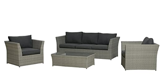 Garden Impressions Lounge Set Hallet, Twisted Grey, 4-teilig