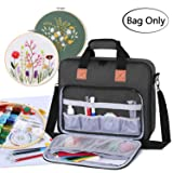 Luxja Embroidery Project Bag, Embroidery Kits Storage Bag (Bag Only), Black (Color: Black)