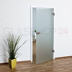 Glastür Ganzglastür T3 | 709x1952mm | Sondermaß 2 cm gekürzt | DIN Links // kostenloser Versand  BaumarktKundenbewertung und weitere Informationen