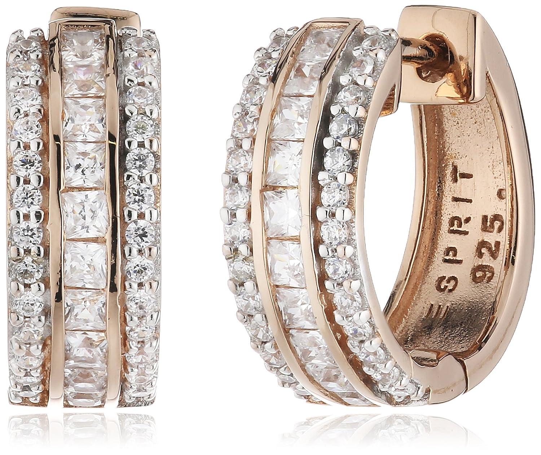 Esprit Damen-Creolen 925 Sterling Silber Zirkonia Exquisite ESCO91687B000 bestellen