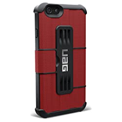 【日本正規代理店品】URBAN ARMOR GEAR iPhone 6 (4.7インチ)用フォリオケース レッド UAG-IPH6F-RED
