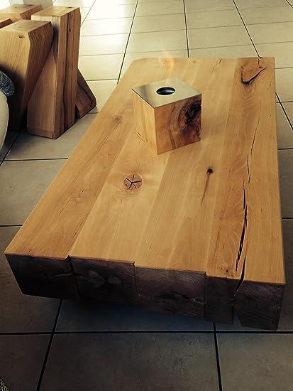 Mesa de centro Diseño moderno único madera de haya maciza barnizada sala de estar
