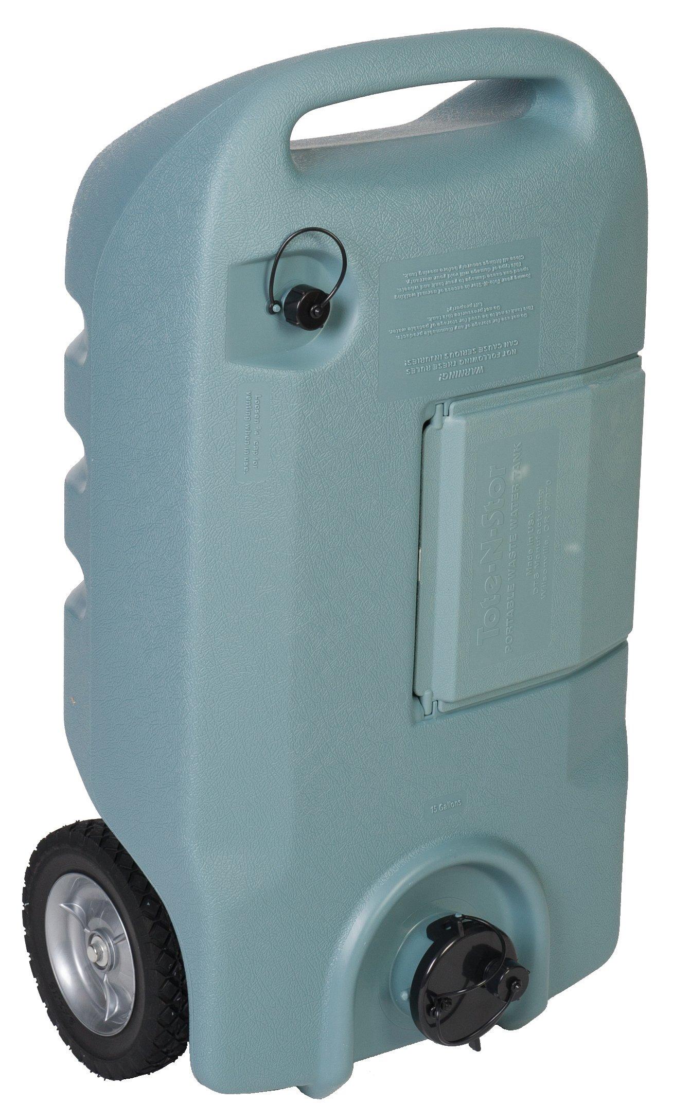 Portable Rv Tanks : Rv portable waste transport wheel trailer sewer black