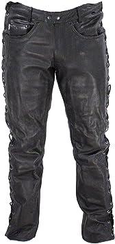 Frank Thomas dentelle en cuir moto Jeans Pantalon Jean De Moto Noir J & S