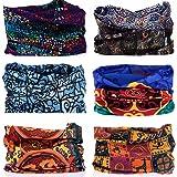 KALILY Headwear Head Wrap Sport Headband Sweatband – 200+ Patterns Magic Scarf Camping, Running, Cycling, Fishing etc (Color: V Pack, Tamaño: Medium)