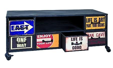 Haku 27950Cómoda Metal Vintage, metal, Vintage, 122x42x50