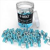 E-VOLT Heat Shrink Crimp Connectors - 120 PC Blue Adhesive Lined Tube 5/16