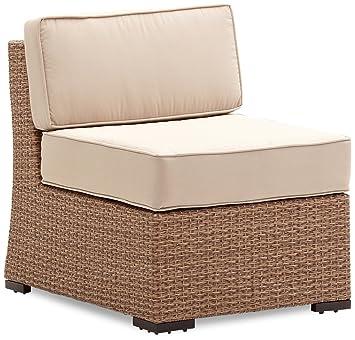 strathwood griffen fauteuil de de jardin modulaire sans accoudoirs en r sine r sine tress e. Black Bedroom Furniture Sets. Home Design Ideas