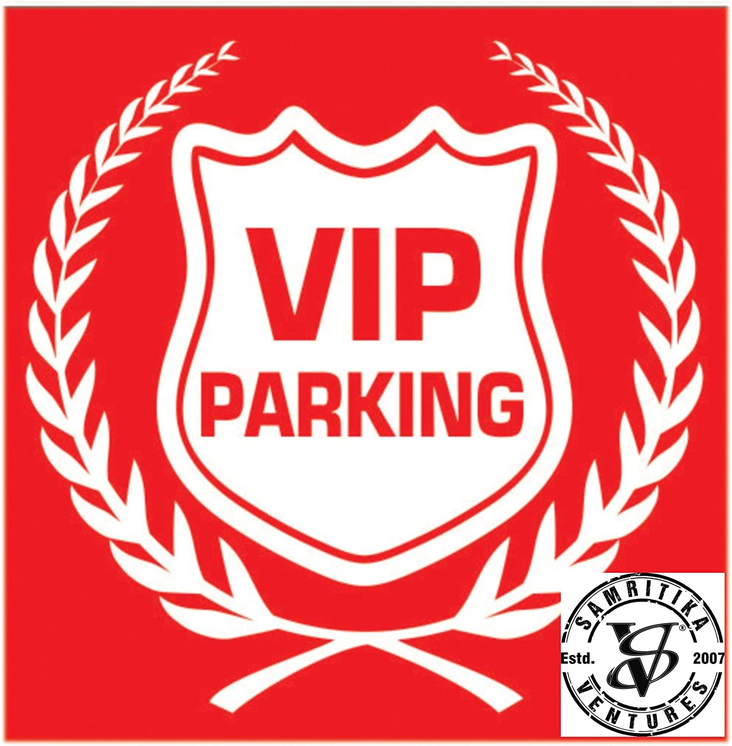 Car parking stickers design india - Vip Parking In Blue Red Car Safety Decal Sticker Decor Sign