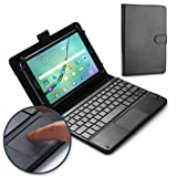 Nvidia Shield Tablet keyboard case, COOPER TOUCHPAD EXECUTIVE 2-in-1 Wireless Bluetooth Keyboard Mouse Leather Travel Cases Cover Holder Folio Portfolio + Stand Nvidia Shield Tablet (Black) (Color: Black, Tamaño: Nvidia Shield Tablet)