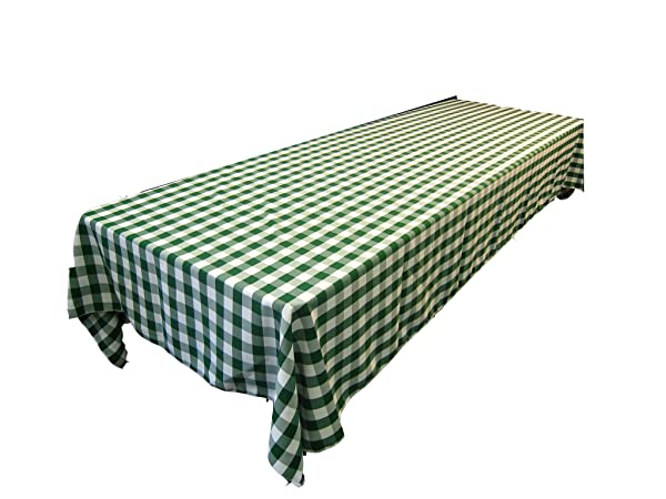 Rectangular Checkered Tablecloth