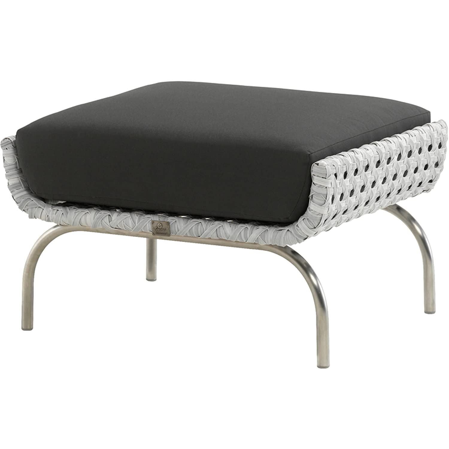 4Seasons Outdoor Luton Fußhocker Polyrattan pearl