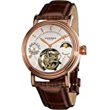 Akribos XXIV Men's AKR493RG Genuine Mechanical Tourbillon Moonphase Watch