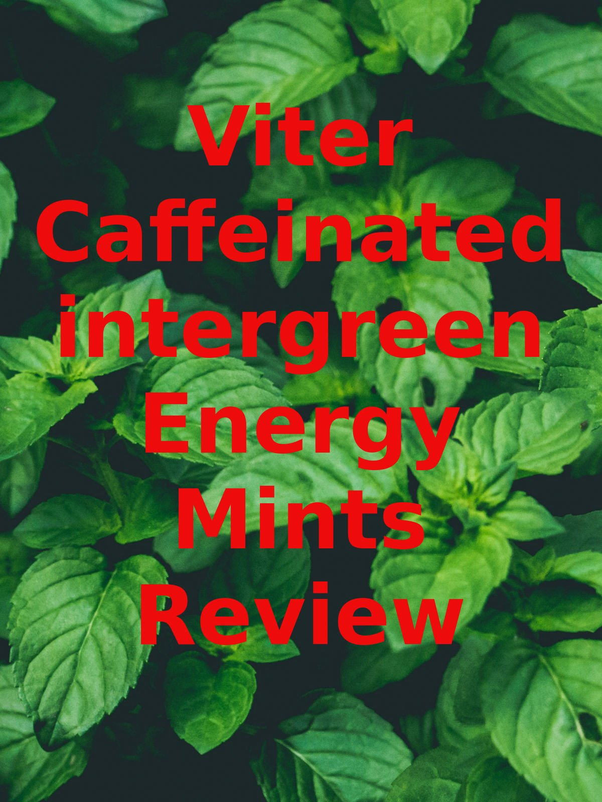 Review: Viter Caffeinated Wintergreen Energy Mints Review on Amazon Prime Video UK