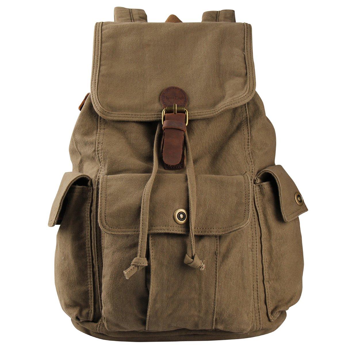 Hynes Eagle Retro Designer Canvas Backpack 28 Liter 0