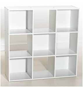 Cubeicals 9 Cube Laminate Organiser White 421       review and more information