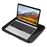 AVLT-Power Multi Purpose Laptop Riser Stand Cooling with Pad USB Fan & Detachable Tablet Stand - Ergonomic Design Multiple Height/Angle Adjustment, Soft Mesh Bottom, Notebook Cooler/Chill Mat/Lap Pad (Color: Black - Cooling Pad)