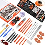 96 in 1 Screwdriver Set Precision,Full Electronic Repair Tool Kit Professional,S2 Steel for Fix iPhone/Computer/Mobile Phone/iPad/MacBook/Laptop/Watch/Game Console DIY Pry Open Replace Screen (Color: 96pcs+extra Accessory)