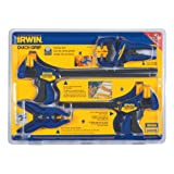 IRWIN Tools QUICK-GRIP Clamp Set, 8 Piece, 4935502 (Color: Blue)