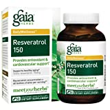 Gaia Herbs Resveratrol 150, Vegan Liquid Capsules, 50 Count - Antioxidant & Cardiovascular Support for Healthy Aging, Highly Concentrated Trans-Resveratrol