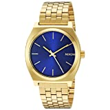 Nixon Men's 'Time Teller' Quartz Stainless Steel Casual Watch, Color Black (Model: A0452735) (Color: All Gold / Blue Sunray, Tamaño: One Size)
